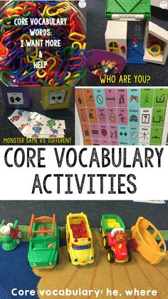 Teaching ideas and tips for early childhood educators and speech therapy ideas. This could definitely be used in speech therapy when teaching vocabulary and working with students. Communication Activities, Vocabulary Activities, Speech Therapy Activities, Speech Language Therapy, Language Activities, Speech And Language, Communication And Language Eyfs, Teaching Vocabulary, Articulation Activities