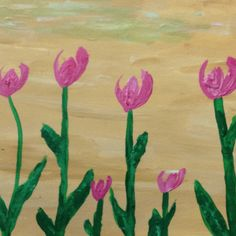 Nature flowers New acrylic painting