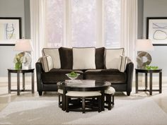 #ValueCityPinToWin  Four Corners Cocktail Table with 4 Benches - Value City Furniture