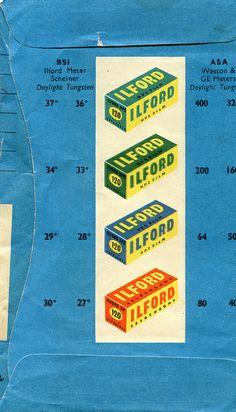 vintage ilford film envelope