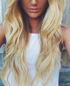 Christmas Hair Ideas | Full Head Remy Clip in Human Hair Extensions - Bleach Blonde (#613) | Shop Now: http://www.cliphair.co.uk/24-Inch-Full-Head-Set-Clip-In-Hair-Extensions-Bleach-Blonde-613.html