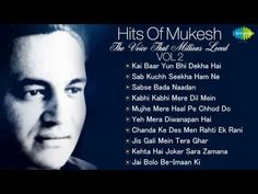 Best Of Mukesh - Top 10 Hits - Indian Playback Singer - Tribute To Mukesh - Old… Old Hindi Movie Songs, Song Hindi, Hit Songs, News Songs, Titanic 2, Old Bollywood Songs, Upcoming Movie Trailers, Song Notes, Top 10 Hits