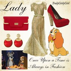 Disney Style: Lady, created by trulygirlygirl on Polyvore