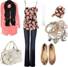 """""""pink and black"""" by sandreamarie on Polyvore"""