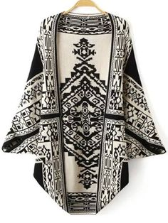 Totem Pattern Reversible Fashionable Cardigan For Women