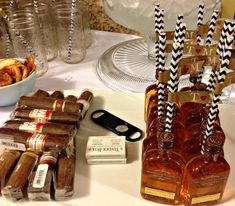 Manly Engagement Party ... bourbon and cigars!