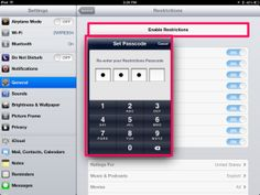 Using your iPad restrictions effectively in the classroom