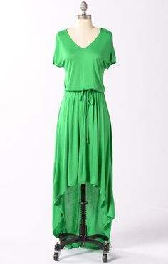 Camden Dress-Bright Green-DE Basics-$30