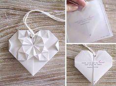 Origami invites idea (save the date?)