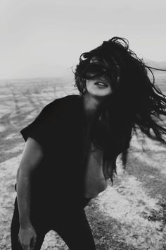 hair | dark hair | brunette | black & white | model | photography | fashion | hair flick | wind | beautiful