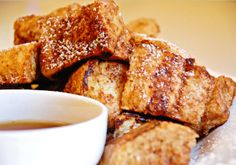 From dessert french toast to vegan french toast we've rounded up the 10 of the best french toast recipes out there. French Toast Bites, Vegan French Toast, Best French Toast, Cinnamon French Toast, Good Morning Breakfast, What's For Breakfast, Breakfast Recipes, Breakfast Buffet, Awesome French Toast Recipe