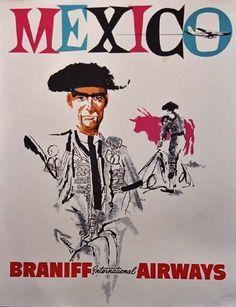 spanish matador transport | Mexico * Braniff Airways (1950s)