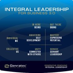 Genratec Integral Leadership AQAL Great Quotes, Awakening, Unity, Leadership, Coaching, Self, Quality Quotes