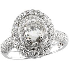 14K White Gold 1.25Ct Created Moissanite and Diamond Ring  $1,730.00