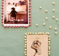DIY and Freebies: cute idea - pom pom frame for snapshots. Craft Projects, Projects To Try, Diy And Crafts, Arts And Crafts, Pom Pom Trim, Pom Poms, Ideias Diy, Diy Art, Crafty