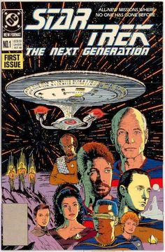 DC Comics 1989 series Star Trek the Next Generation Star Trek Merchandise, Star Trek Books, Star Trek Movies, Marvel Comics Superheroes, Sci Fi Comics, Star Trek 1, Star Trek Images, Star Trek Collectibles, Comics For Sale