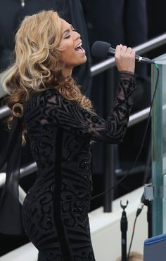 Beyonce sings in Pucci at the Inauguration