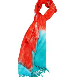 Love the colors in this scarf!  Made using a tie-dye kit and an easy folding technique! #creativitymadesimple
