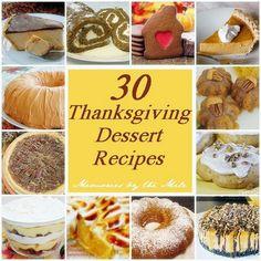 30 Thanksgiving Dessert Recipes!