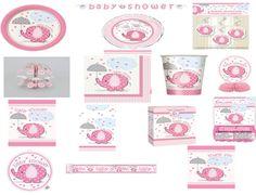 16 rosa Umbrellaphants-Servilletas-Niña Bebé Ducha Fiesta Vajilla Servilletero
