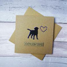 Dog sympathy card: thinking of you card, Handmade loss of a Labrador card, Dog condolences card, Dea Labrador Silhouette, Animal Silhouette, Happy Birthday Name, Dog Birthday, Bulldogs, Husky Corgi, Pet Sympathy Cards, Pun Card, Dog Cards