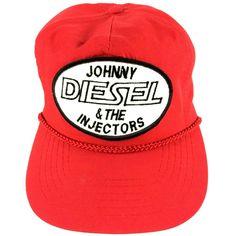 c77d1895f1e Johnny Diesel   The Injectors Strapback Hat Adjustable Red Baseball Cap