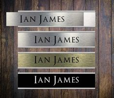 Door Nameplate Holders - with personalised name plate insert Office Door Signs, Wedding Plaques, Church Foyer, Office Names, Name Blocks, Desk Name Plates, Aluminium Doors, Nameplate, Home Signs