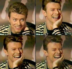 oh Bowie you laugh like a big boy!
