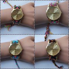 Reloj Geneva Pulsera Tejida Dama - Envio Gratis - Moda 2015 - $ 50.000 en MercadoLibre