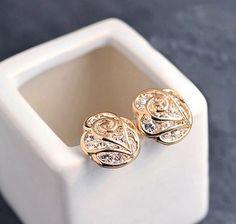 Sparkly Rose Rhinestone Fashion Earrings | LilyFair Jewelry