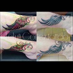 #freehanddesign #wingstattoos