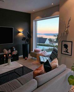 best design apartment small living room decor ideas tht make you cozy 34 Small Living Rooms, Home Living Room, Apartment Living, Living Room Decor, Bedroom Small, Trendy Bedroom, Modern Living, Living Spaces, Interior Design Living Room