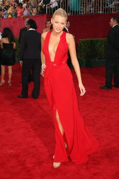 Blake Lively in Versace at the 2009 Emmy Awards.