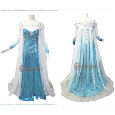 Free Shipping Customized Princess Elsa Dress in Movie Frozen Cosplay Costume-in Costumes & Accessories from Apparel & Accessories on Aliexpr...