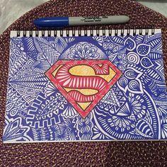 superhero sharpie zentangles - Google Search