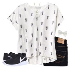 """""""OOTD? RTD"""" by lucynew44 ❤ liked on Polyvore featuring Abercrombie & Fitch, Old Navy, NIKE and Accessorize"""