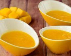 Kompott Mango Detox Mandel und Vanille: www. - [board_name] - Bikini Mango Puree, Dressing Recipe, Salad Dressing, Baby Food Recipes, Vegan Recipes, 9 Month Baby Food, Recipe For 8, Mango Sauce, Gourmet