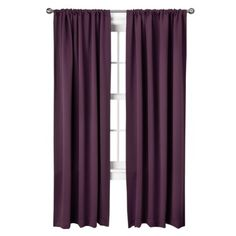 Target Home™ Grayson Grommet Window Panel Pair ($29.99) AND THEY'RE CHEAP (and come in a pair)!!  Only downside is boo rod pockets, but beggars can't be choosers at this juncture...