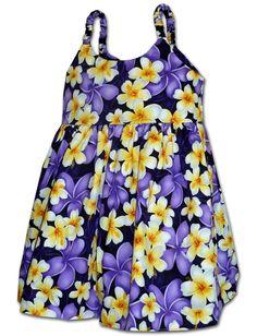 54208f1b10 Bright Beautiful Plumeria girl s bungee dress