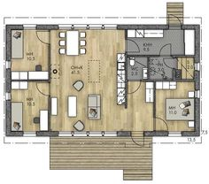 Future House, My House, Minimalist Home, House Floor Plans, My Dream Home, Bungalow, Sweet Home, New Homes, Exterior