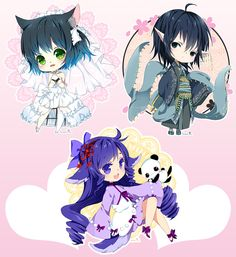 Chibi commission batch20 by inma.deviantart.com on @DeviantArt