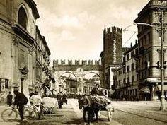 Verona - i portoni della Brà da corso porta Nuova con la torre pentagona e la Chiesa di S.Luca Evangelista  - by butelvr