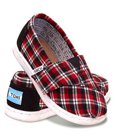 Another great find on #zulily! Red Plaid Alpargatas - Tiny #zulilyfinds
