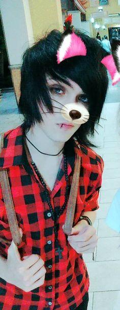 I'm a foxy! Mechlin Rómeó #emo #emoboy #boy #filter #foxy #fox #cute #handsome #emohair #hair #kawaii #blueeyes #blue #eyes #adorable #hot #hottie