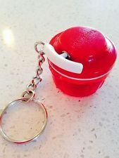 Tupperware Key Chain Red Chop and Prep Collectible New Keychain Real Pull Cord