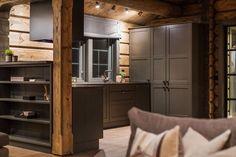 OPPLEV NYE RØROSHYTTA VISNINGSHYTTE!   FINN.no Winter Lodge, Swiss Cottage, Timber Cabin, Swedish House, Cabin Interiors, Wooden House, Modern Rustic, Tall Cabinet Storage, Furniture