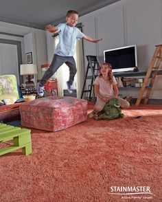 Let them play to their heart's content on Stainmaster carpet.