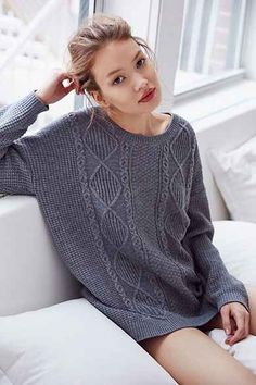 Olive & Oak Elbow Patch Sweater | Urban Outfitters