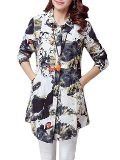 Ink Printing High Waist Design Vintage Casual Women Blouse look not only special, but also they always show ladies' glamour perfectly and bring surprise. Stylish Dresses, Trendy Outfits, Casual Dresses, Fashion Outfits, Folk Fashion, Muslim Fashion, Short Kurti Designs, Cotton Blouses, Cotton Linen