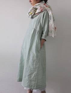 [Envelope Online Shop] Anasta Lisette dress.  Mint green linen...